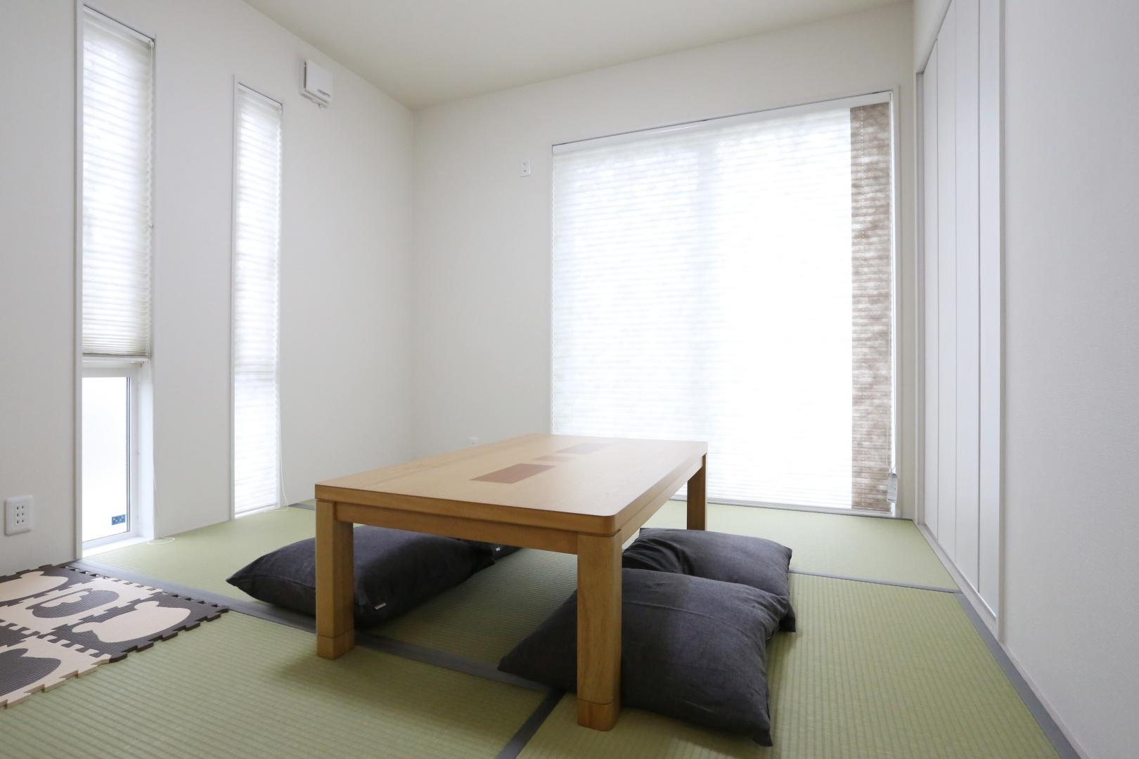 和室(5.4畳) 広めの収納には来客用の布団も余裕で収納できます。